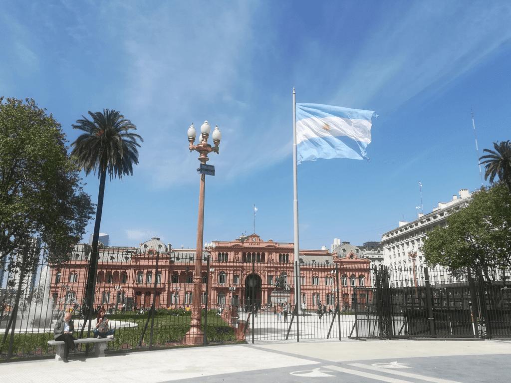 Buenos Aires, Casa Rosada, Argentine flag