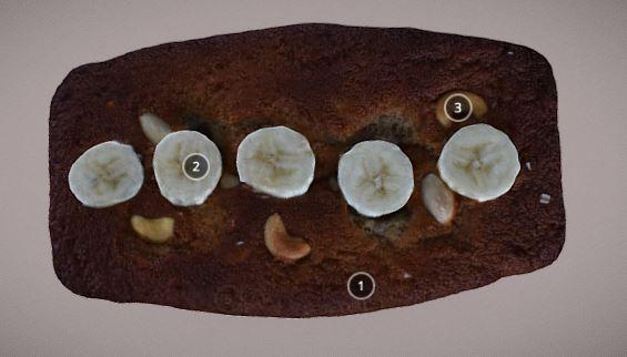 Banana Bread 3D Model